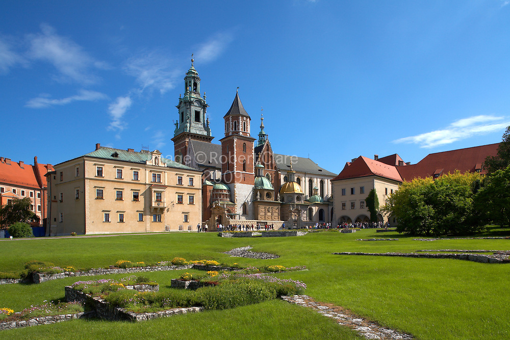 Eastern Europe Poland Malopolska Krakow, Royal Wawel Hill Cathedral