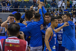 November 27, 2017 - Cubao, Quezon City, Philippines - Gilas Pilipinas with the traditional center court meet-up after they have defended their home.Gilas Pilipinas defended their home against Chinese Taipei. Game ended at 90 - 83. (Credit Image: © Noel Jose Tonido/Pacific Press via ZUMA Wire)