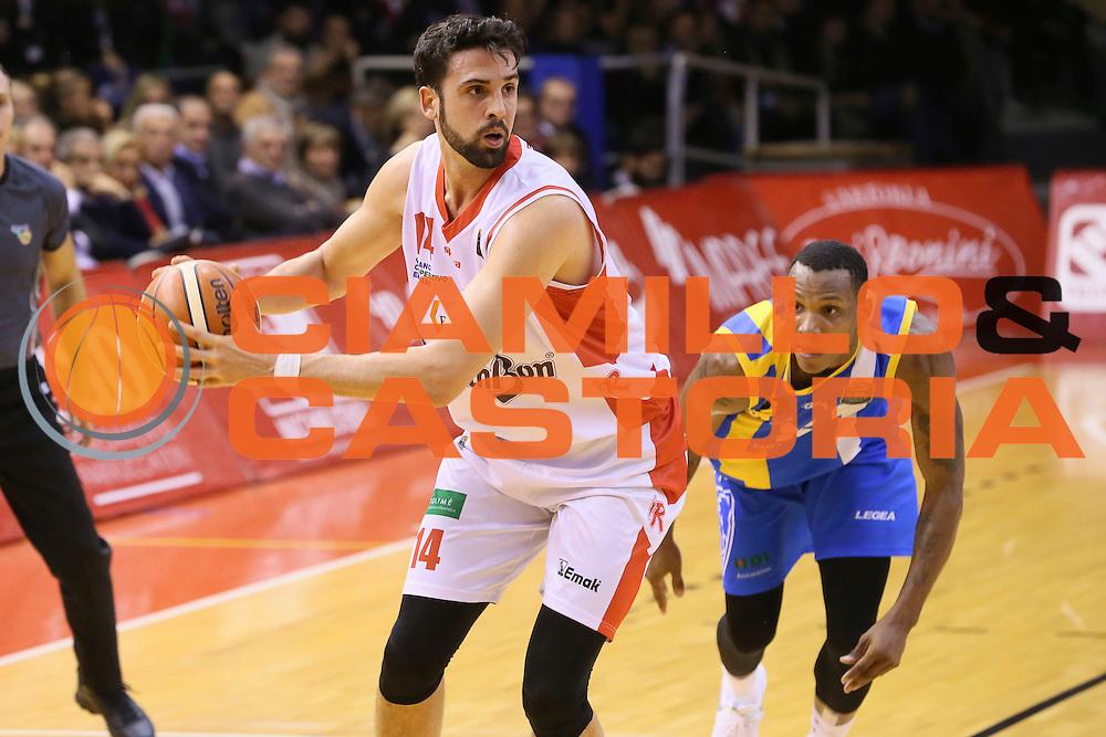 Riccardo Cervi<br /> Grissin Bon Pallacanestro Reggio Emilia - Betaland Capo d' Orlando - <br /> Lega Basket Serie A 2016/2017<br /> Reggio Emilia, 05/12/2016<br /> Foto Ciamillo-Castoria