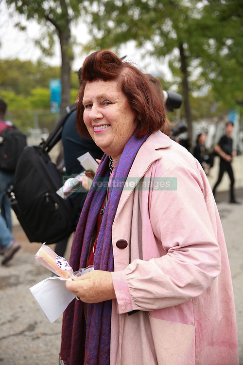 September 12, 2018 - New York, New York, United States - Suzy Menkes attends the Coach 1941 Runway Show during New York Fashion Week at Pier 94 on September 11, 2018 in New York City. (Credit Image: © Oleg Chebotarev/NurPhoto/ZUMA Press)