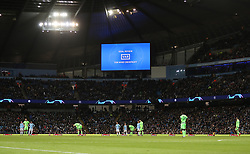 VAR is consulted for Manchester City's second goal during the UEFA Champions League round of 16 second leg match at the Etihad Stadium, Manchester.