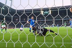 29.04.2011, Weserstadion, Bremen, GER, 1.FBL, Werder Bremen vs VFL Wolfsburg, im Bild 0:1 durch Sascha Riether (Wolfsburg #20) gegen Keeper Tim Wiese ( Werder #01) Aufgenommen mit der Hintorremote Kamera    EXPA Pictures © 2011, PhotoCredit: EXPA/ nph/  Kokenge       ****** out of GER / SWE / CRO  / BEL ******