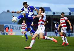 Jonson Clarke-Harris of Bristol Rovers in action with Tom Anderson of Doncaster Rovers - Mandatory by-line: Alex James/JMP - 11/01/2020 - FOOTBALL - Memorial Stadium - Bristol, England - Bristol Rovers v Doncaster Rovers - Sky Bet League One