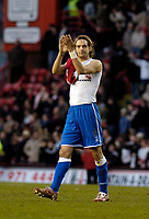 Photo: Leigh Quinnell.<br /> Bristol City v Middlesbrough. The FA Cup. 27/01/2007.<br /> Boro captain Jonathan Woodgate unhappy but thanks the fans at the end of the game.