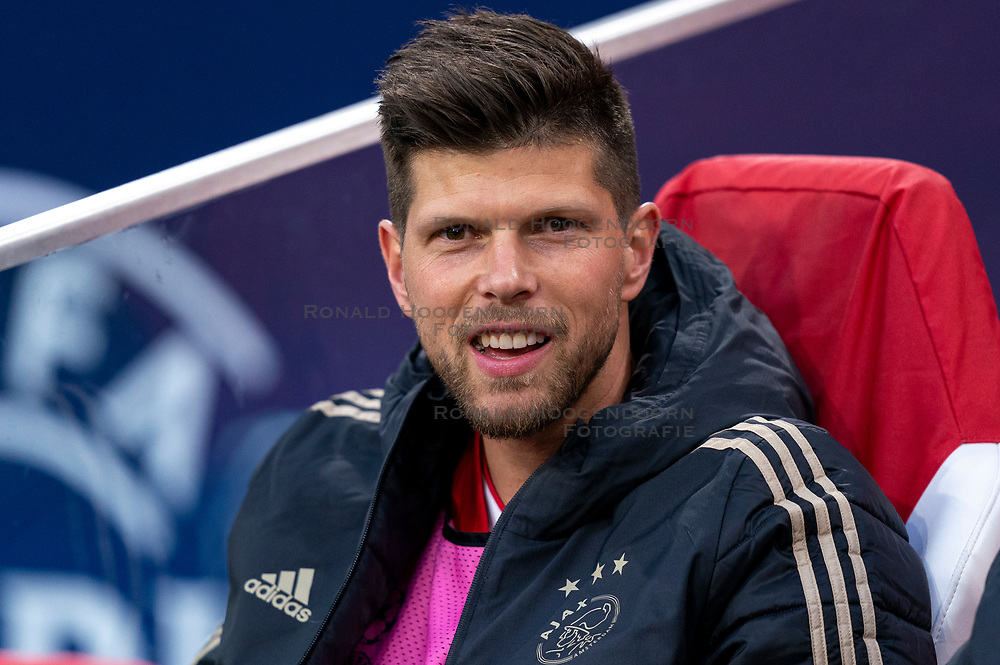 08-05-2019 NED: Semi Final Champions League AFC Ajax - Tottenham Hotspur, Amsterdam<br /> After a dramatic ending, Ajax has not been able to reach the final of the Champions League. In the final second Tottenham Hotspur scored 3-2 / Klaas Jan Huntelaar #9 of Ajax