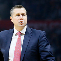 09 November 2015: Memphis Grizzlies head coach David Joerger is seen during the Los Angeles Clippers 94-92 victory over the Memphis Grizzlies, at the Staples Center, in Los Angeles, California, USA.