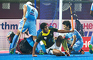 BHUBANESWAR (India) -  Hero Champions Trophy hockey men. Semifinal India vs Pakistan. Muhammad Arlsan Qadir of Pakistan makes de winning goal in the last minute. Pakistan in the final. Photo Koen Suyk