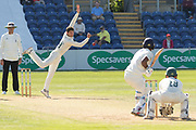 Colin Ackemann bowling during the Specsavers County Champ Div 2 match between Glamorgan County Cricket Club and Leicestershire County Cricket Club at the SWALEC Stadium, Cardiff, United Kingdom on 18 September 2019.
