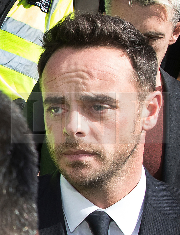 © Licensed to London News Pictures. 16/04/2018. London, UK. TV presenter ANT MCPARTLIN leaves Wimbledon Magistrates Court in London where he pleaded guilty to drink driving. Photo credit: Peter Macdiarmid/LNP