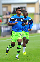 Reece Brown of Forest Green Rovers warms up - Mandatory by-line: Nizaam Jones/JMP- 30/09/2017 - FOOTBALL - New Lawn Stadium - Nailsworth, England - Forest Green Rovers v Accrington Stanley - Sky Bet League Two