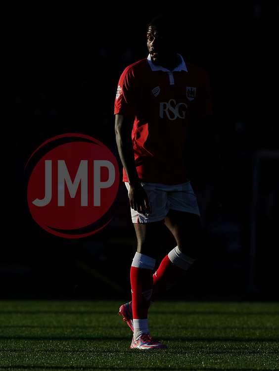 Bristol City's Jay Emmanuel-Thomas walks in to a pocket of sunlight  - Photo mandatory by-line: Joe Meredith/JMP - Mobile: 07966 386802 - 07/12/2014 - SPORT - Football - Bristol - Ashton Gate - Bristol City v AFC Telford United - FA Cup