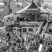 The Cliftones on stage with festival crowd in Sugarloaf during the 28th annual Bud Light Reggae Festival - 16th April 2016 - Sugarloaf, Maine, USA
