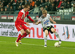 27.11.2011, UPC Arena, Graz, AUT, 1. FBL, SK Puntigamer Sturm Graz vs FC Trenkwalder Admira, im Bild Florian Kainz (SK Sturm Graz, #14, Midfield) und Christopher Dibon (FC Trenkwalder Admira, #17), EXPA Pictures © 2011, PhotoCredit: EXPA/ Erwin Scheriau