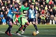 Forest Green Rovers Reuben Reid(26) on the ball during the EFL Sky Bet League 2 match between Forest Green Rovers and Crawley Town at the New Lawn, Forest Green, United Kingdom on 24 February 2018. Picture by Shane Healey.