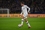 Marcos Alonso (3) of Chelsea FC on the attack during the The FA Cup match between Hull City and Chelsea at the KCOM Stadium, Kingston upon Hull, England on 25 January 2020.