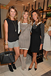 Left to right, GABRIELLA PEACOCK, MALIN JEFFERIES and HEATHER KERZNER at a lunch hosted by Alice Naylor-Leyland and Tamara Beckwith in celebration of the Coach 2015 collection held at Coach, New Bond Street, London on 18th September 2014.