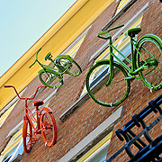Bikes on a Building