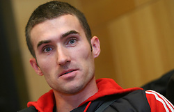 Damjan Zlatnar at press conference of Athletic Federation of Slovenia (AZS) before the 12th IAAF World Indoor Championships, Valencia, Spain, 7 ? 9 March 2008, on March 3, 2008 in M-Hotel, Ljubljana, Slovenia. (Photo by Vid Ponikvar / Sportal Images)