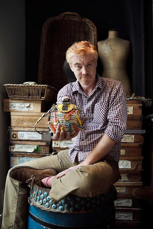 Benoit Jamin, cofondateur de la marque Jamin Puech. Au showroom du siege de la  maison, au 46 rue de Provence, a Paris, le 6 octobre 2011.
