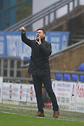 Graham Alexander Scunthorpe Manager during the EFL Sky Bet League 1 match between Oldham Athletic and Scunthorpe United at Boundary Park, Oldham, England on 28 October 2017. Photo by George Franks.