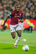 Michail Antonio (West Ham) during the EFL Cup 4th round match between West Ham United and Tottenham Hotspur at the London Stadium, London, England on 31 October 2018.