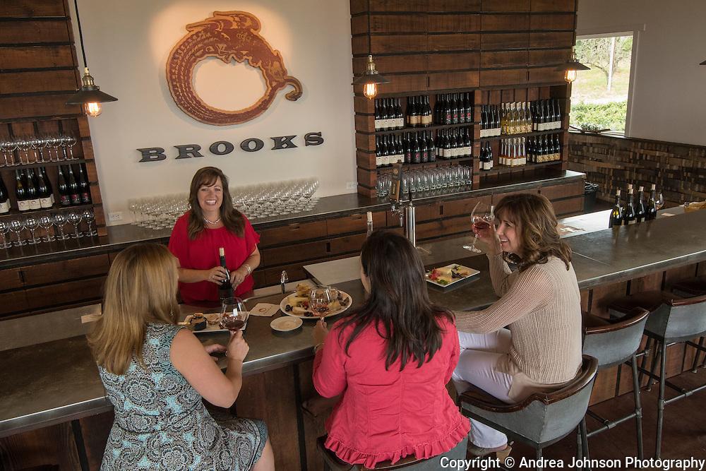 Brooks chef Ashley food & wine tasting experience, Eola-Amity Hills AVA, Willamette Valley, Oregon