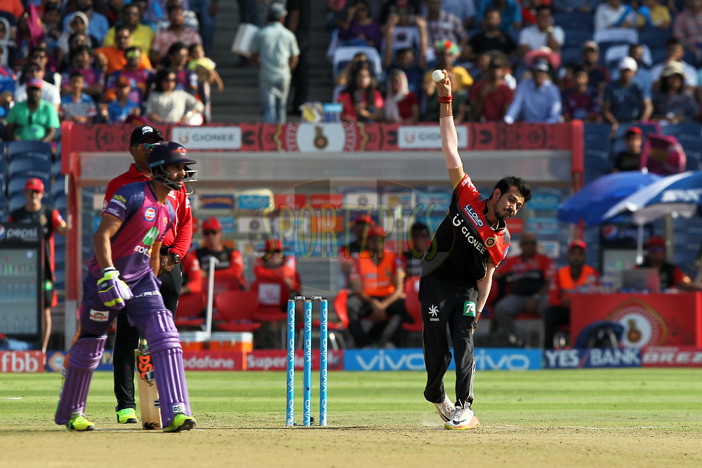 Yuzvendra Chahal of Royal Challengers Bangalore during match 34 of the Vivo 2017 Indian Premier League between the Rising Pune Supergiants and the Royal Challengers Bangalore   held at the MCA Pune International Cricket Stadium in Pune, India on the 29th April 2017Photo by Prashant Bhoot - Sportzpics - IPL