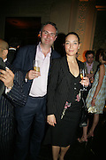 WILLIAM CASH AND WRITER SELIN TAMTEKIN, Tatler Summer party. Home House. Portman Sq. London. 27 June 2007.  -DO NOT ARCHIVE-© Copyright Photograph by Dafydd Jones. 248 Clapham Rd. London SW9 0PZ. Tel 0207 820 0771. www.dafjones.com.