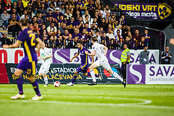 Marwan Kabha #8 of NK Maribor and Kristjan Floki Finnbogason #18 of FH Hafnarfj?rdur  during 1st Leg football match between NK Maribor (SLO) and FH Hafnarfjordur (ISL) in Third qualifying round of UEFA Champions League 2017/18, July 26, 2017, in Stadium Ljudski vrt, Maribor, Slovenia. Photo by Grega Valancic / Sportida