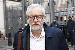 © Licensed to London News Pictures. 18/12/2019. London, UK. Labour Leader Jeremy Corbyn arrives at Parliament. The first Prime Minister's questions after the election will take place today in The House of Commons. Photo credit: Peter Macdiarmid/LNP