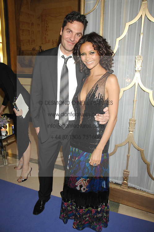 THANDIE NEWTON and OL PARKER at the 10th Anniversary Party of the Lavender Trust, Breast Cancer charity held at Claridge's, Brook Street, London on 1st May 2008.<br />