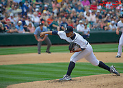Seattle Mariner, Erasmo Ramirez pitches at Safeco Field during a match up against the Minnesota Twins. Photo by John Lill