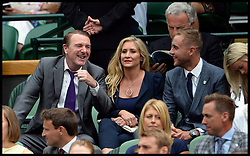 Image ©Licensed to i-Images Picture Agency. 28/06/2014, Wimbledon, London, United Kingdom.  Phil Tufnell and Stuart Broad in the Royal box on Day 6 of the Wimbledon Tennis Championship. Picture by Andrew Parsons / i-Images
