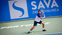 Frederik Nielsen (DEN) play against Albano Olivetti (FRA) at ATP Challenger Zavarovalnica Sava Slovenia Open 2018, on August 6, 2018 in Sports centre, Portoroz/Portorose, Slovenia. Photo by Urban Urbanc / Sportida