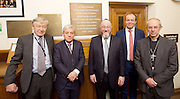 Kinderstransport plaque in Parliament, Westminster, London, Great Britain <br /> 27th January 2017 <br /> <br /> Chief Rabbi and Archbishop of Canterbury to mark Holocaust Memorial Day with Lord Dubs at rededication of Kindertransport plaque in Parliament<br />  <br /> 20 years ago the Committee of the Reunion of the Kindertransport donated a plaque to Parliament commemorating Britain&rsquo;s act of generosity to Jewish children in Nazi-occupied Europe. On Holocaust Memorial Day [27 January 2017], the plaque will be rededicated in the presence of newly arrived child refugees who were reunited with their families from Calais last year by Safe Passage, a project of Citizens UK. <br />  <br /> The ceremony will be particularly poignant as it will be attended by Lord Dubs, himself a Kindertransport survivor, who passed an amendment to the Immigration Act last year, with the Government's support, affording sanctuary in the UK to some of the most vulnerable lone child refugees in Europe.<br />  L to R <br /> <br /> Lord Alf Dubs.<br /> Speaker of the House of Commons, John Bercow, <br /> Chief Rabbi, Ephraim Mirvis, <br /> Archbishop of Canterbury, Justin Welby, <br /> <br /> <br /> Rededication of Kinderstransport plaque in Parliament<br /> <br /> <br /> <br /> <br /> Photograph by Elliott Franks