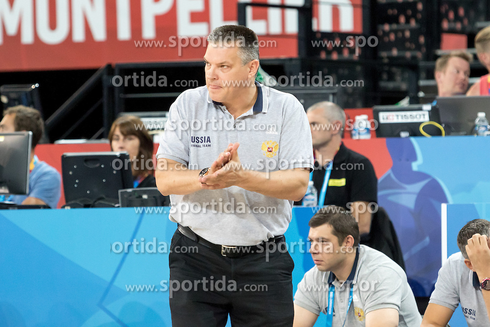 06.09.2015, Park Suites Arena, Montpellier, FRA, Russland vs Polen, Gruppe A, im Bild EVGENY PASHUTIN // during the FIBA Eurobasket 2015, group A match between Russia and Poland at the Park Suites Arena in Montpellier, France on 2015/09/06. EXPA Pictures &copy; 2015, PhotoCredit: EXPA/ Newspix/ Pawel Pietranik<br /> <br /> *****ATTENTION - for AUT, SLO, CRO, SRB, BIH, MAZ, TUR, SUI, SWE only*****