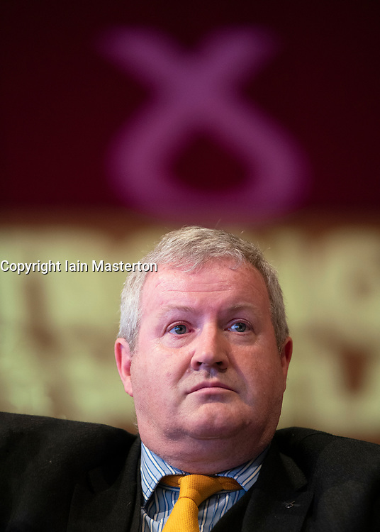 Edinburgh, Scotland, UK. 27 April, 2019. SNP ( Scottish National Party) Spring Conference takes place at the EICC ( Edinburgh International Conference Centre) in Edinburgh. Pictured; Ian Blackford MP, Scottish National Party Member of Parliament for Ross, Skye and Lochaber