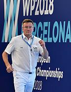 referee <br /> ITA - GRE Italy (white caps) vs. Greece (blue caps) <br /> Barcelona 15/07/2018 Piscines Bernat Picornell <br /> Women qualification<br /> 33rd LEN European Water Polo Championships - Barcelona 2018 <br /> Photo Andrea Staccioli/Deepbluemedia/Insidefoto