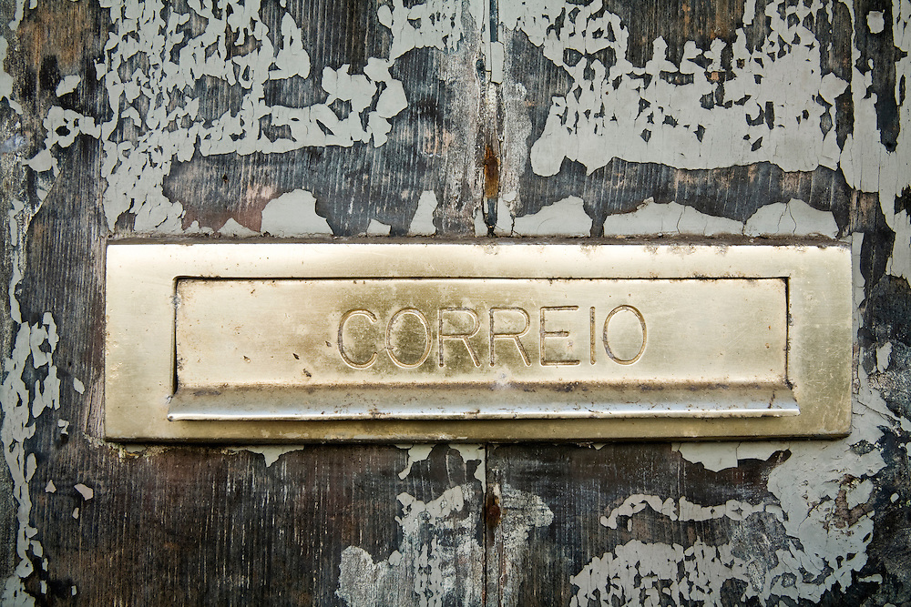 A mail slot in the Azores. Horta is on the island of Faial. One of of the Azores, which is  a group of islands in the Atlantic that are a part of Portugal and the European Union. Horta is a popular stop for yachts crossing the Atlantic in the Spring time to return to Europe.