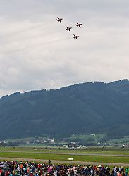 28.06.2013, Fliegerhorst Hinterstoisser, Zeltweg, AUT, AIRPOWER 2011, im Bild Kunstflugstaffel Patrouille Suisse (Schweizer Luftwaffe) während der Airpower 13 // Aerobatic team Patrouille Suisse (Swiss Air Force) during the Airpower 13 Air show on the Air Base Hinterstoisser in Zeltweg, Austria on 2013/06/28, EXPA Pictures © 2013, PhotoCredit: EXPA/ Juergen Feichter