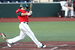 14 August 2015: Ozney Guillen during a Frontier League Baseball game between the Washington Wild Things and the Normal CornBelters at Corn Crib Stadium on the campus of Heartland Community College in Normal Illinois