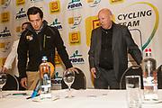 BELGIUM / TELENET FIDEA CYCLING TEAM / CYCLOCROSS / VELDRIJDEN / 2012-2013 / PRESS CONFERENCE / PERSCONFERENTIE / TOM MEEUSEN /HANS VAN KASTEREN /