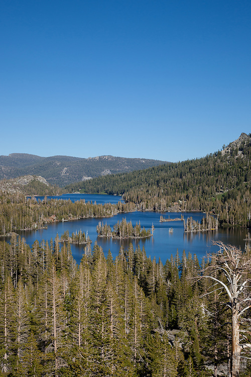 """""""Echo Lakes 2"""" - Photograph of Upper and Lower Echo Lakes, located at the edge of Desolation Wilderness, Tahoe."""