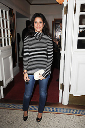FATIMA BHUTTO at an In-House screening of 'Sweet Smell of Success' hosted by Clive Owen presented by Tod's in association with Amend held at The Electric Cinema, 191 Portobello Road, London W11 on 29th November 2010.