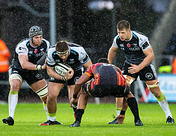 Rhodri Jones of Ospreys on the charge<br /> <br /> Photographer Simon King/Replay Images<br /> <br /> Guinness PRO14 Round 6 - Ospreys v Southern Kings - Saturday 9th November 2019 - Liberty Stadium - Swansea<br /> <br /> World Copyright © Replay Images . All rights reserved. info@replayimages.co.uk - http://replayimages.co.uk