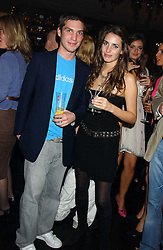 WILLIAM AITKEN and MARINA HANBURY at a party to celebrate the publication of Tatler's Little Black Book 2005 held at the Baglioni Hotel, 60 Hyde Park Gate, London SW7 on 9th November 2005.<br />
