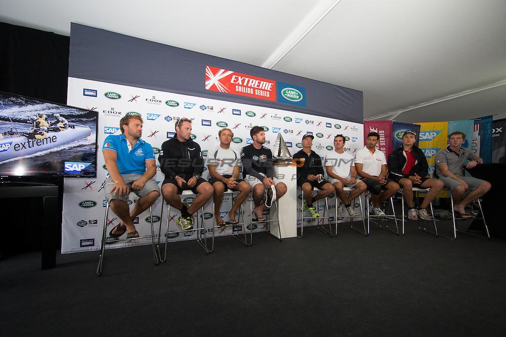2015 Extreme Sailing Series - Act 5 - Hamburg<br /> Act 5 Hamburg press conference.<br /> Credit Jesus Renado