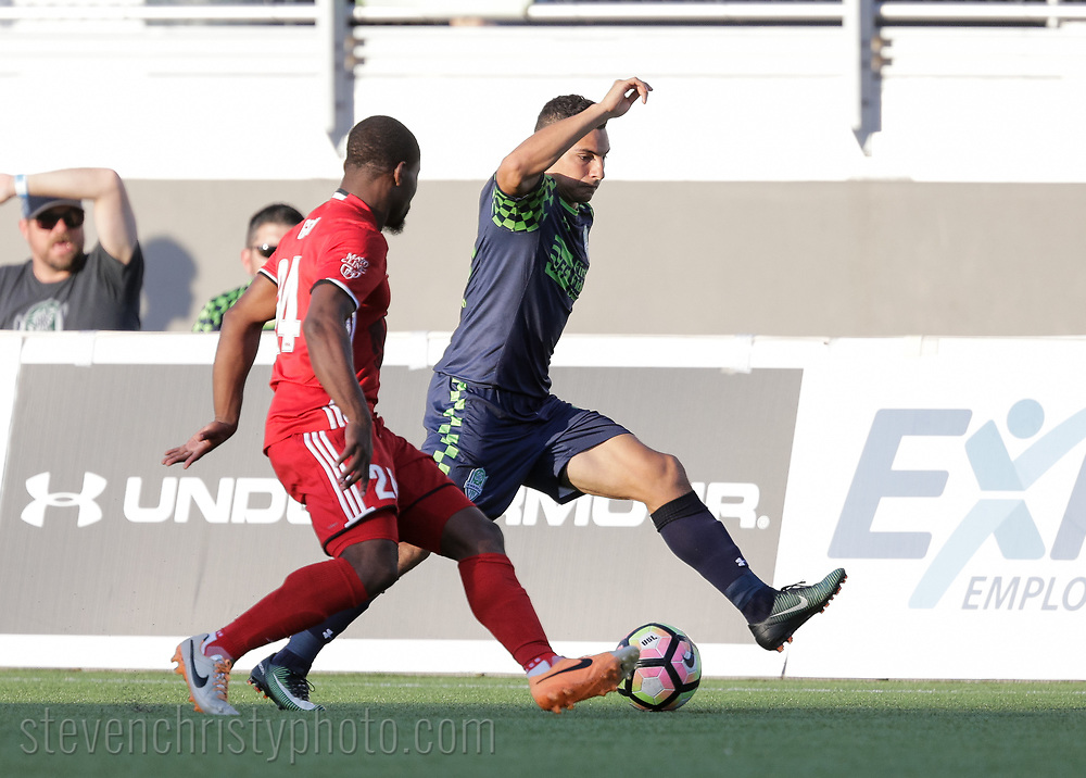 June 6, 2017: OKC Energy FC plays Phoenix Rising FC in a USL game at Taft Stadium in Oklahoma City, Oklahoma.
