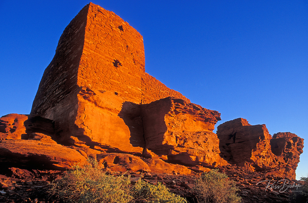 Evening light on Wukoki Ruin, Wupatki National Monument, Arizona USA