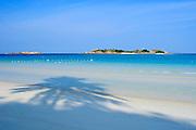 Palm Tree shadow on beach - Pulau Redang, Malaysia